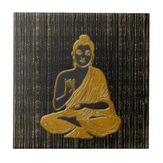 gold Buddha Small Square Tile