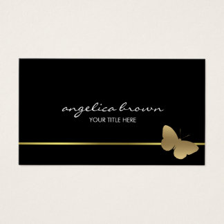 Gold Butterfly Business Card
