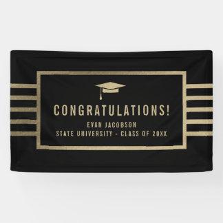 Gold Cap EDITABLE COLOR Graduation Banner