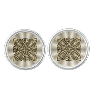 Gold Celtic Knot Original Artistic Design Cufflinks