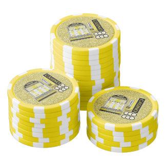 Gold Champion Slots Casino Faux Glitter Poker Chips