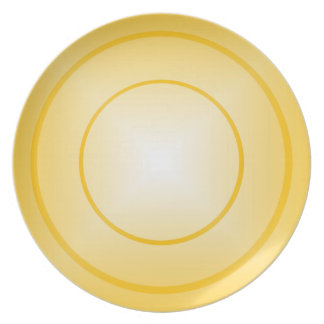 Gold Charger Melamine Plate