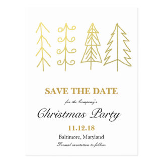 Christmas Tree Save The Date Cards & Invitations | Zazzle.co.nz