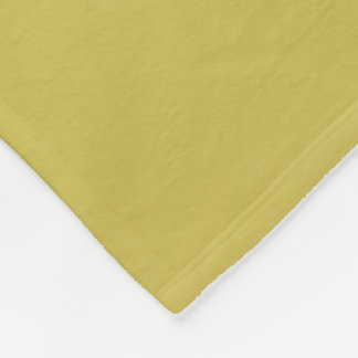 Gold-Colored Fleece Blanket