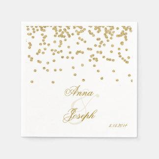 Gold confetti & glitter Napkins Paper Napkin