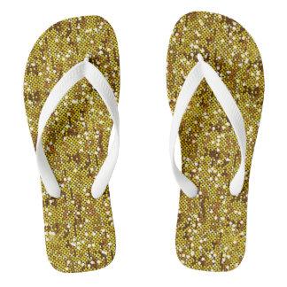 Gold Confetti Glitter Print Jandals