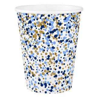 Gold Confetti Paper Cup
