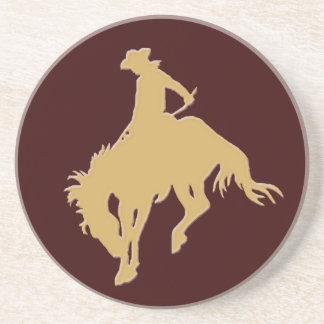 Gold Cowboy Bucking Horse Coaster