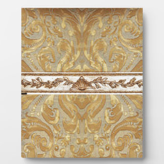 Gold Damask with center border Plaque