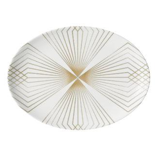 Gold Diamond Flower Serving Platter