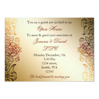 gold elegant Corporate party Invitation