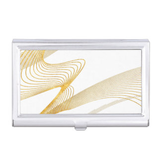 Gold Elegant Custom YourColor-Business Card Holder Business Card Holder