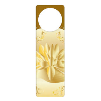 GOLD FANCY ROMANTIC DOOR HANGAR DOOR HANGERS