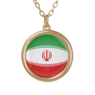Gold finish Necklace Iran flag