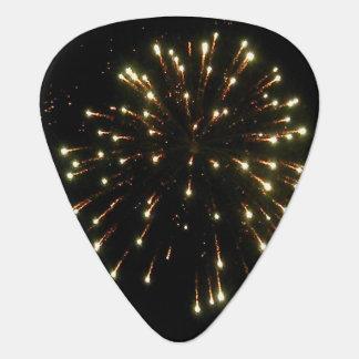 Gold Fireworks Burst Plectrum