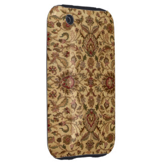 Gold Flowers Arabesque oriental tapastery iPhone 3 Tough Case