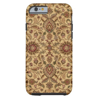 Gold Flowers Arabesque oriental tapastery Tough iPhone 6 Case