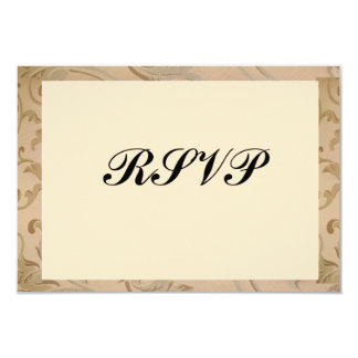 Gold Flowers Bar/Bat Mitzvah RSVP Card