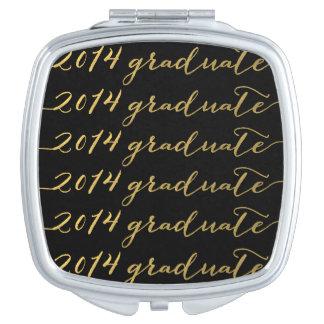 Gold Foil 2014 Graduate Compact Compact Mirror