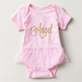 "Gold Foil ""Angels"" & Wings Baby Bodysuit"