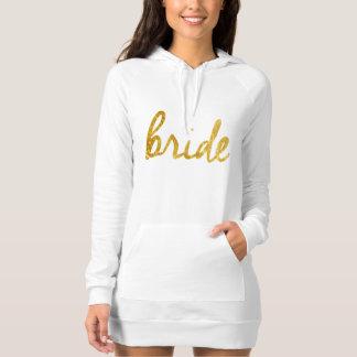 Gold Foil Bride Sweatshirt Dress
