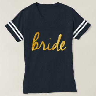 Gold Foil Bride Varsity Tee