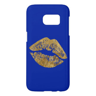 Gold Foil Effect Kiss Samsung Phone Case