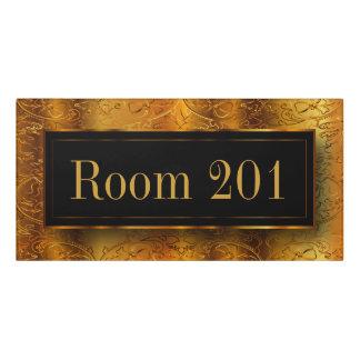 Gold Foil Emboss Look Door Sign