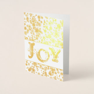Gold Foil JOY Christmas Greeting Card