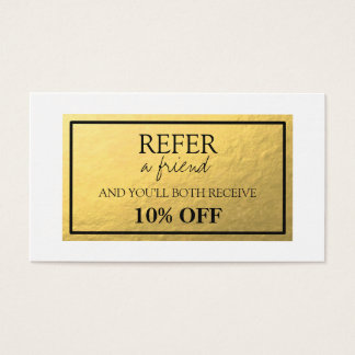 Gold Foil Referral Card