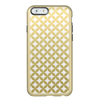 Gold Foil White Diamond Circle Pattern Incipio Feather® Shine iPhone 6 Case