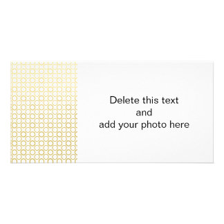 Gold Foil White Polka Dots Pattern Picture Card