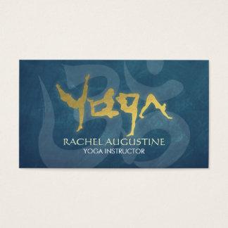 Gold Foil YOGA Human Alphabet Letters Om Symbol