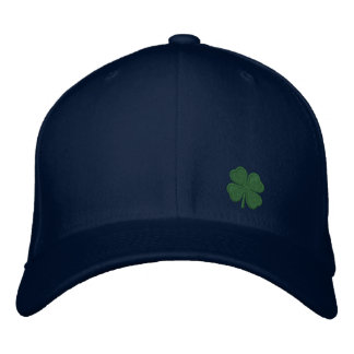 Gold Four Leaf Clover St. Patricks - CUSTOMIZABLE! Embroidered Baseball Caps