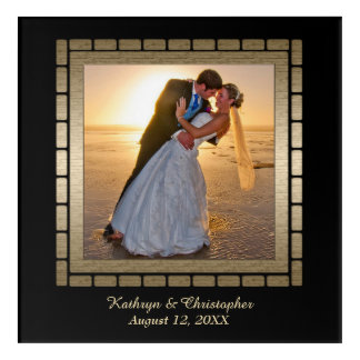 Gold Frame Wedding Keepsake Template Acrylic Print