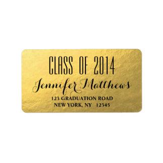 Gold Glam Class of 2014 Graduation Address Label