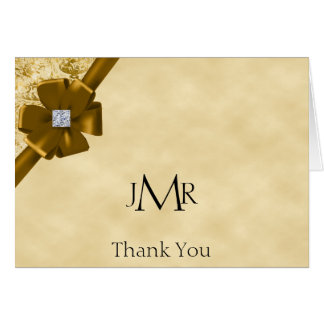 Gold Glitter 50th Anniversary Thank You Card