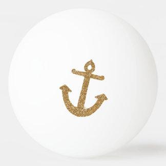 Gold Glitter Anchor