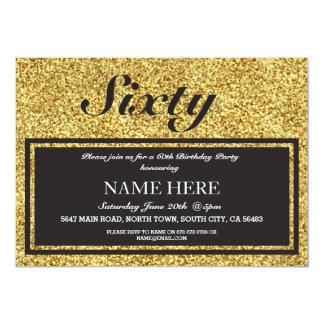 Gold Glitter Elegant Birthday Any Age Invitation