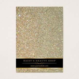 Gold Glitter Sparkle Jewelry Earring Display Cards