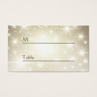 Gold Glitter Sparkles - Wedding Table Place Card