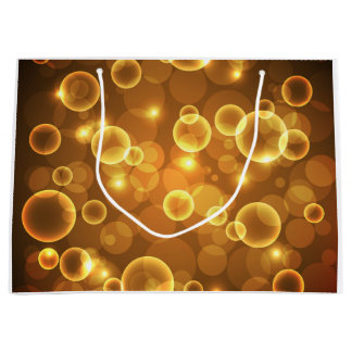 Gold Golden Bubble Light Art Large Gift Bag