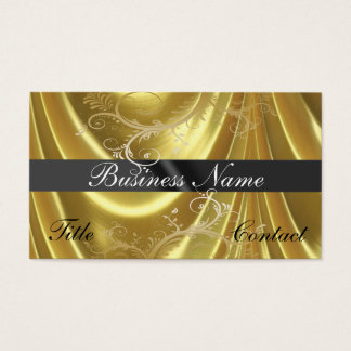 Gold Golden Material and Vines Business Cards