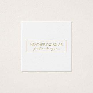 Gold Grey Foil Shine Square Business Card