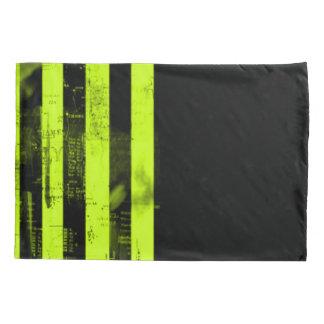 Gold Grunge Stripes Pattern Pillowcase