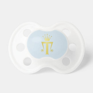 Gold Initial T Letter Monogram Baby Pacifier Gift