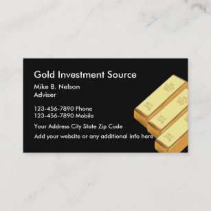 Gold trading business cards zazzle nz gold investing commodities business card reheart Choice Image