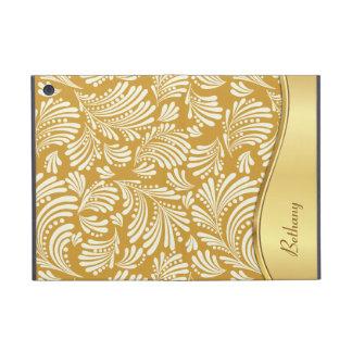 Gold Ivory Floral Folio iPad Mini Cases For iPad Mini