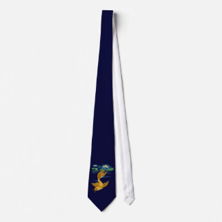 Gold Koi and Deep Blue Lilies Ties