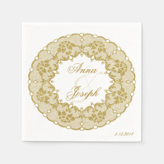 Gold lace Napkins Disposable Serviettes